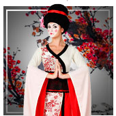 Chinesen, Asiaten, Ninjas und Geishas Kostüme für Frau