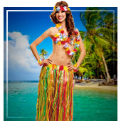 Hawaiianer Kostüme für Frau