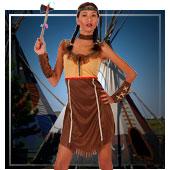 Cowboys und Indianer Kostüme für Frau