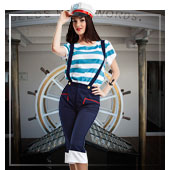 Die Frauen Seemann Kostüm