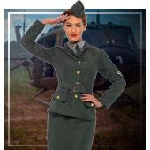 Armee und Militär Kostüme für Frau