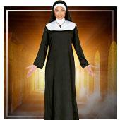 Mönche und Nonnen Kostüme für Frau