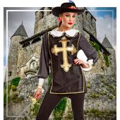 Disfraces de Mosqueteros para mujer
