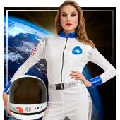 Disfraces de aliens astronautas y espacio para mujer