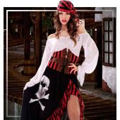 Disfraces para mujer de piratas, bucaneros y corsarios