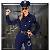 Disfraces de policías y presos para mujer