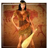 Disfraces de troglodita y cavernícola mujer