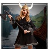 Disfraces de vikingos y bárbaros para mujer