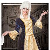 Disfraces de época y venecianos para mujer
