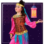 Disfraces de árabe e Hindús para niña