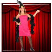 Fatos de CanCan, Cabaret e Burlesco para Menina