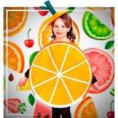Disfraces de Frutas, Flores y Verduras para niña