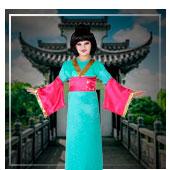Disfraces de chinas, orientales y geishas para niña