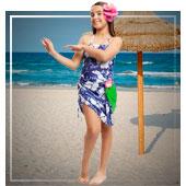 Disfraces de hawaianos para niña