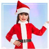 Fatos de Pai-Natal para Menina