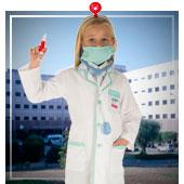 Disfraces de medicos y enfermeras para niña