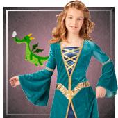 Disfraces medievales para niña