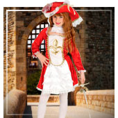 Disfraces de Mosqueteros para niña