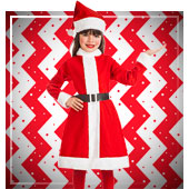 Weihnachtsfrau Kostüme für Mädchen
