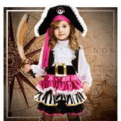 Disfraces para niña de piratas, bucaneros y corsarios