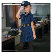 Disfraces de policías y presas para niña