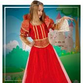 Disfraces de princesas, reyes y príncipes para niña