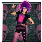 Fatos de Rock e Punk para Menina