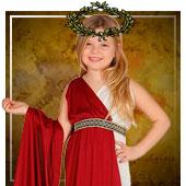 Disfraces para niña de romanos, egipcios y griegos