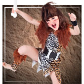 Disfraces de trogloditas y cavernicolas para niña