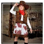 Cowboys und Indianer Kostüme für Mädchen