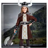 Disfraces de vikingos y bárbaros para niña