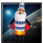 Disfraces de aliens astronautas y espacio para niño