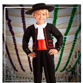 Disfraces de flamencas, sevillanas, toreros y cordobeses par
