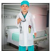 Disfraces de medicos y enfermeras para niño