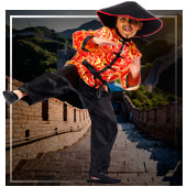 Chinesen, Asiaten, Ninjas und Geishas Kostüme für Junge