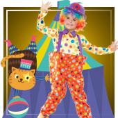 Disfraces de payasos, circo, arlequines y bufones para niño