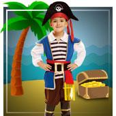 Disfraces para niño de piratas, bucaneros y corsarios