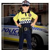Disfraces de policías y presos para niño