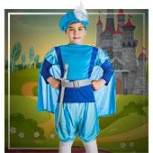 Disfraces de princesas, reyes y príncipes para niño