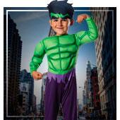 Disfraces de superheroes y comic para niño