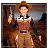 Costumi di Indiani e Cowboy da bambino