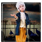 Disfraces de época y venecianos para niño
