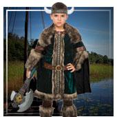 Disfraces de vikingos y bárbaros para niño