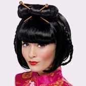 Pelucas de Chinos, Orientales, Ninjas y Geishas