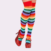 Accesorios piernas de payasos, circo, arlequines y bufones