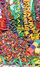 serpentina y confeti para fiestas