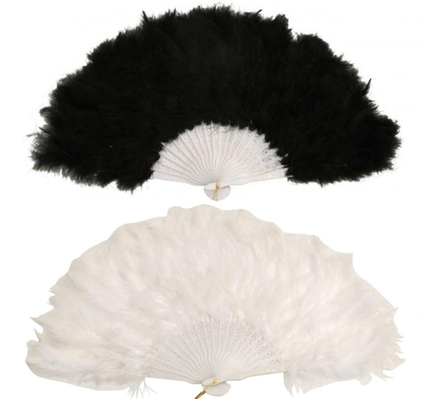 Abanico plumas de 21 varillas en varios colores for Abanico de colores