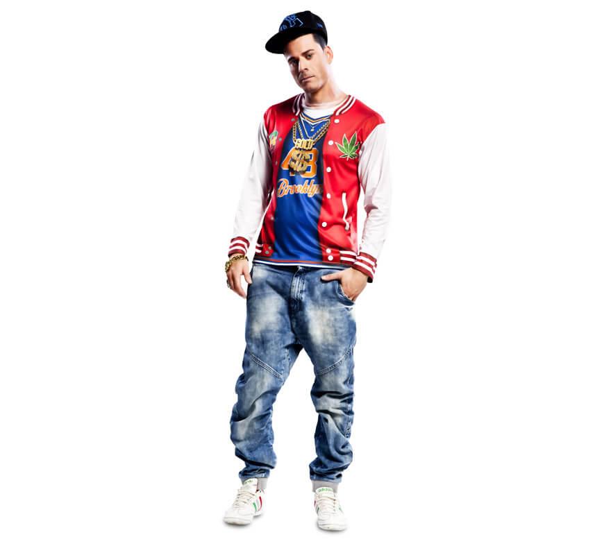 aec358d651881 Camiseta disfraz de rapero para Hombre-0
