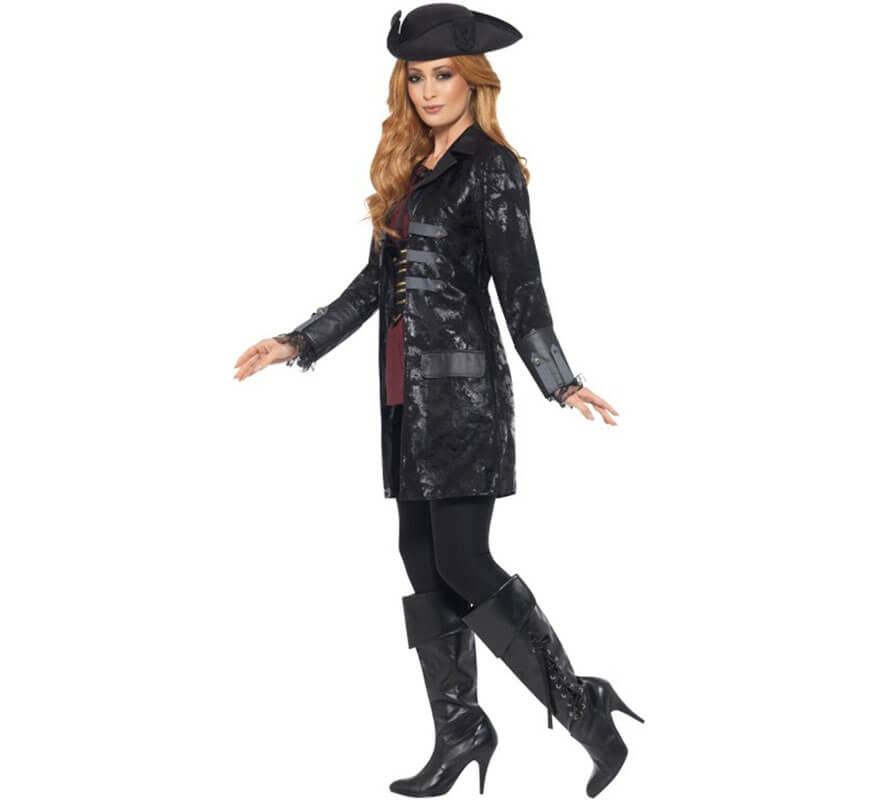 De Veste Femme Noire Pour Pirate v4Yw7BY6q