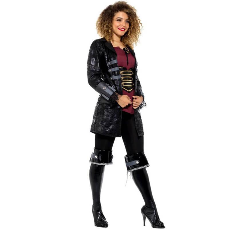 Mujer Chaqueta De Pirata Para Negra 6T0H8qg